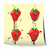 Strawberry design | Stock Illustration
