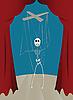 Photo 300 DPI: skeleton puppet