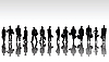 Stylized business people silhouettes | Stock Illustration