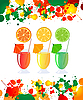 Vector clipart: Summer refreshments