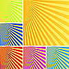 Vector clipart: Rays backgrounds