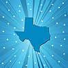Vector clipart: Blue Texas map