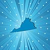 Vector clipart: Blue Virginia map