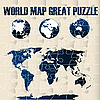 World Map Puzzle  | Stock Vector Graphics