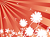 Vector clipart: flowers and dragonflies