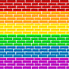 Vector clipart: Rainbow wall
