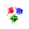 Vector clipart: Red, green and blue splats