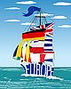Vector clipart: EU ship