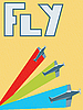 Vector clipart: Retro fly poster