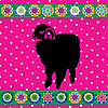 Vector clipart: Retro sheep