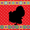Vector clipart: Retro turkey