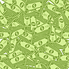 Vector clipart: Dollar pattern