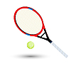 Vector clipart: tennis racket