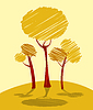 Vector clipart: Autumn trees