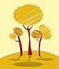 秋天的树木 | 向量插图
