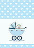Vector clipart: girl in stroller