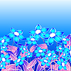 Vector clipart: Blue floral composition
