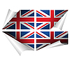 Vector clipart: British flag stickers