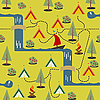 Vector clipart: Camping site map