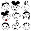 Векторный клипарт: Детские эмоции
