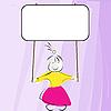 ID 3032148 | Mädchen hält Plakat | Stock Vektorgrafik | CLIPARTO
