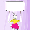 ID 3032148 | Littl girl holding banner | Klipart wektorowy | KLIPARTO