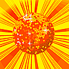 Vector clipart: Disco ball background