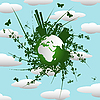 Vector clipart: Eco background