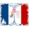 New Year Eiffel tower card