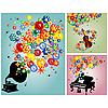 Photo 300 DPI: Floral sound backgrounds