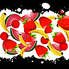 Vector clipart: Fruit background