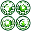 Vector clipart: Globe stamps with wreath