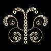 Vector clipart: Golden gears design