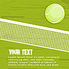 Vector clipart: Grunge tennis background