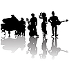 Vector clipart: Jazz players