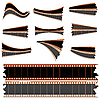 Vector clipart: Negative film strips on white
