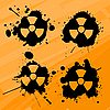 Vector clipart: Nuclear blots