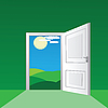 Vector clipart: open door
