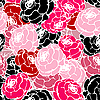 Vector clipart: Pink-red roses pattern