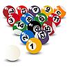 Vector clipart: Pool balls