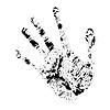 Impresión de la mano realista | Ilustración vectorial