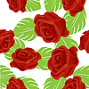 Vector clipart: Red rose pattern