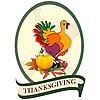 Vektor Cliparts: Aufkleber für Thanksgiving Day