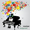 Vector clipart: sound of flowers