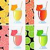 Vector clipart: fruit juices