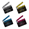Vector clipart: movie clapper boards