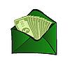 Векторный клипарт: наличные деньги онлайн