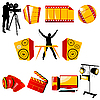 Vector clipart: video and music icons