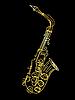 Векторный клипарт: золотой саксофон