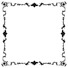 Vector clipart: Frame in black and white